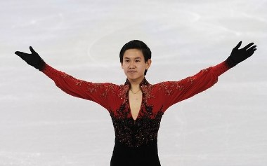 VANCOUVER, BC - FEBRUARY 18:  Denis Ten of Kazakhstan competes in the men's figure skating free skating on day 7 of the Vancouver 2010 Winter Olympics at the Pacific Coliseum on February 18, 2010 in Vancouver, Canada.  (Photo by Jasper Juinen/Getty Images)
